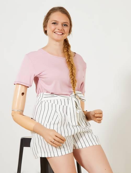 T-shirt fluide 'A&K Classics'                                                                 rose Femme
