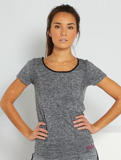 T-shirt fluide de sport                             gris chiné