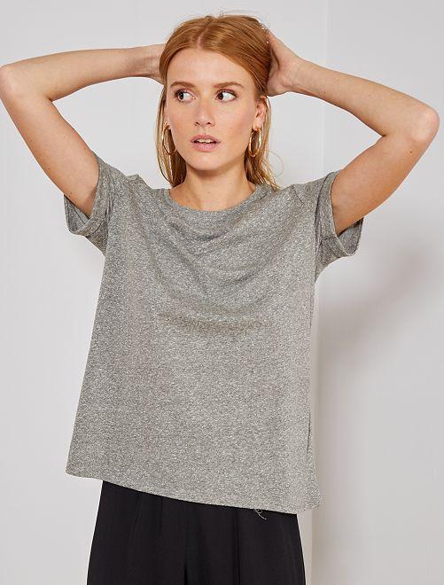 T-shirt fluide 'éco-conception'                             gris