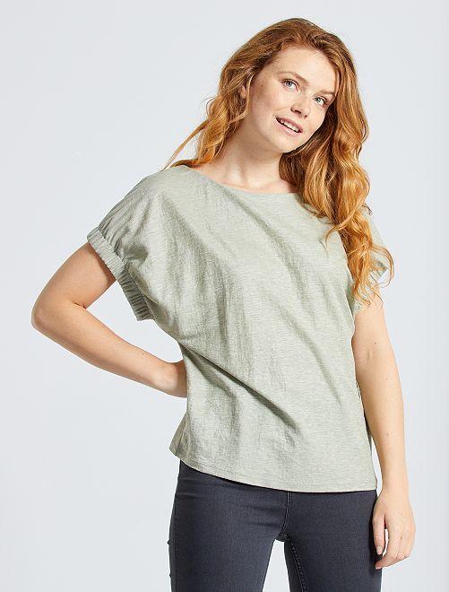 T-shirt fluide manches fantaisie                                                                 vert