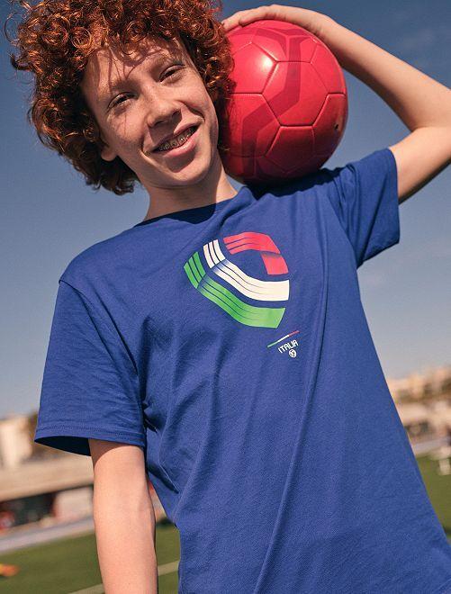 T-shirt foot Italie                                                     bleu Italie