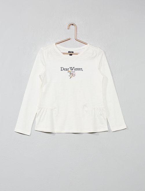 T-shirt forme basque                                         beige Fille
