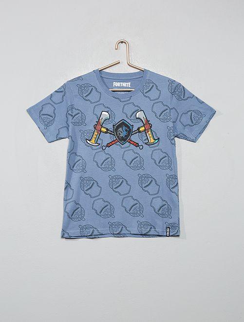 T-shirt 'Fortnite'                             gris bleu