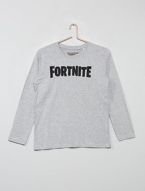 T-shirt 'Fortnite'                             gris chiné