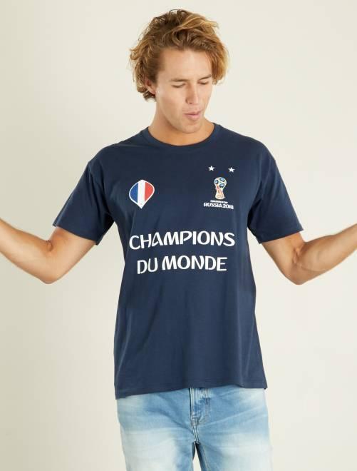 T-shirt France 'Champions du Monde' 2018                             bleu marine