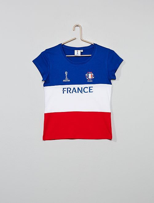 T-shirt 'France' 'Coupe du monde'                             bleu/blanc/rouge Fille