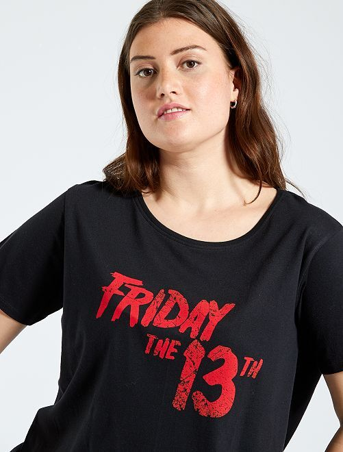 T-shirt 'Friday the 13th'                             noir
