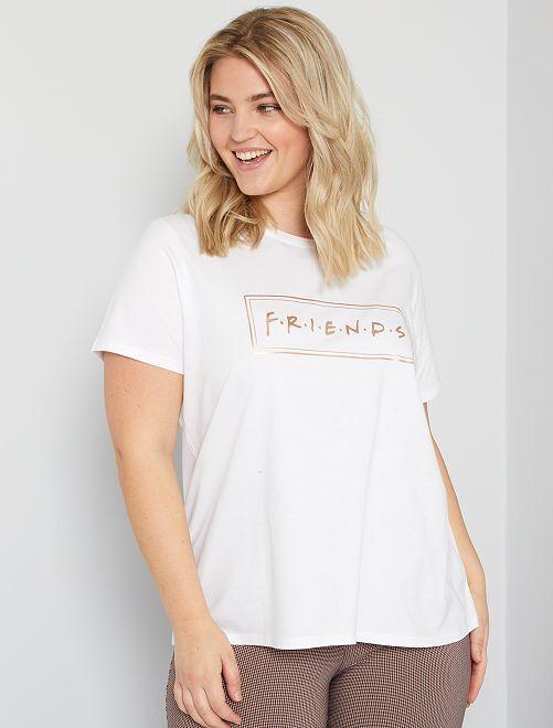 T-shirt 'Friends'                             blanc