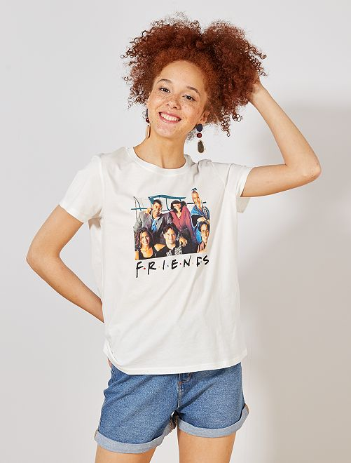 T-shirt 'Friends'                             écru