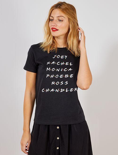 T-shirt 'Friends'                             noir Femme