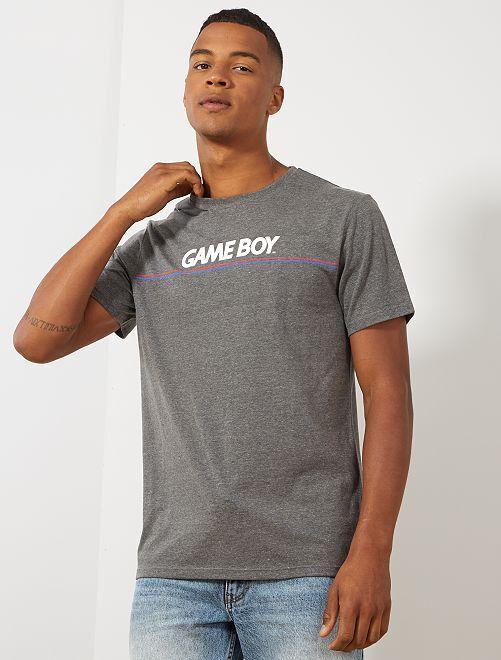 T-shirt 'Game Boy'                             gris chiné Homme