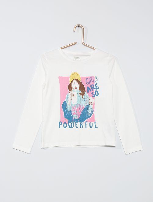 T-shirt 'Girls' éco-conçu                                                                                                                 blanc girls