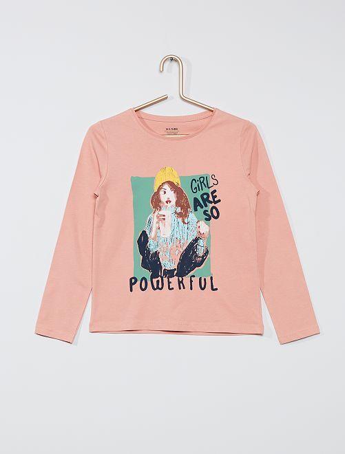 T-shirt 'Girls' éco-conçu                                                                                                                 rose girls