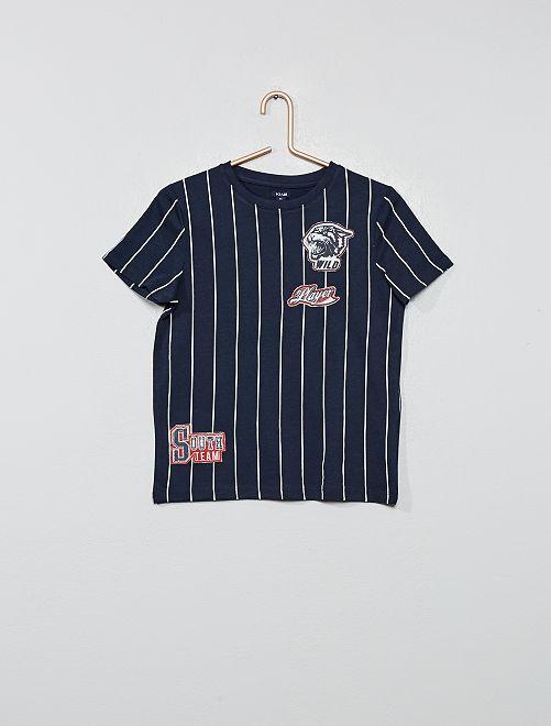 T-shirt 'Great' en jersey                                         bleu