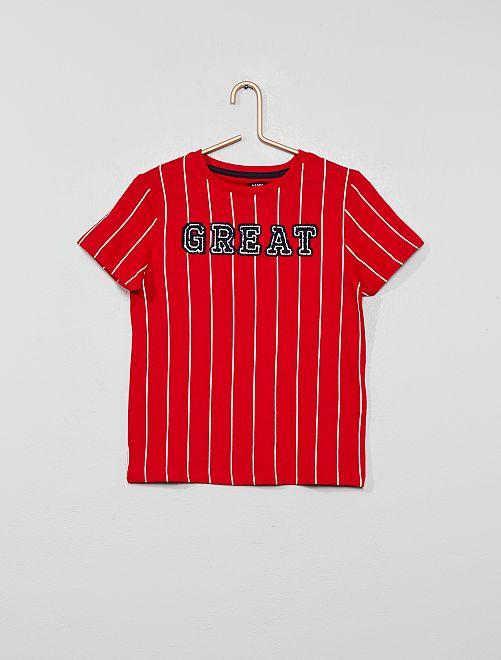 T-shirt 'Great' en jersey                                         rouge