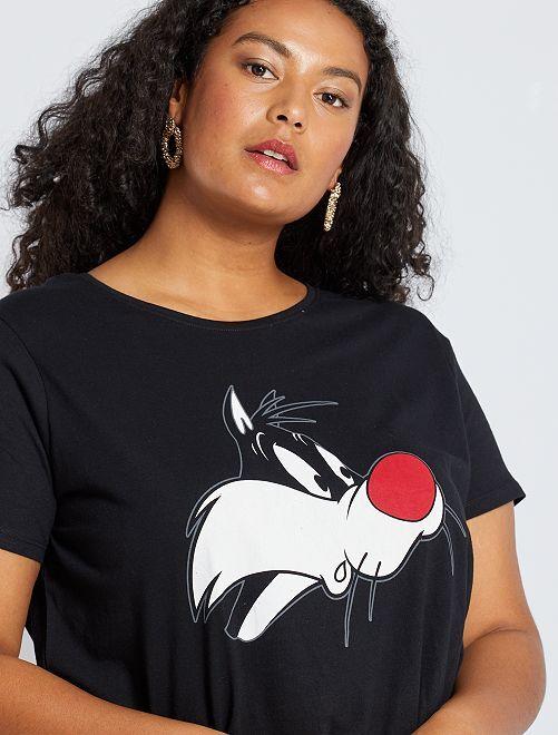 T-shirt 'Gros Minet'                             noir