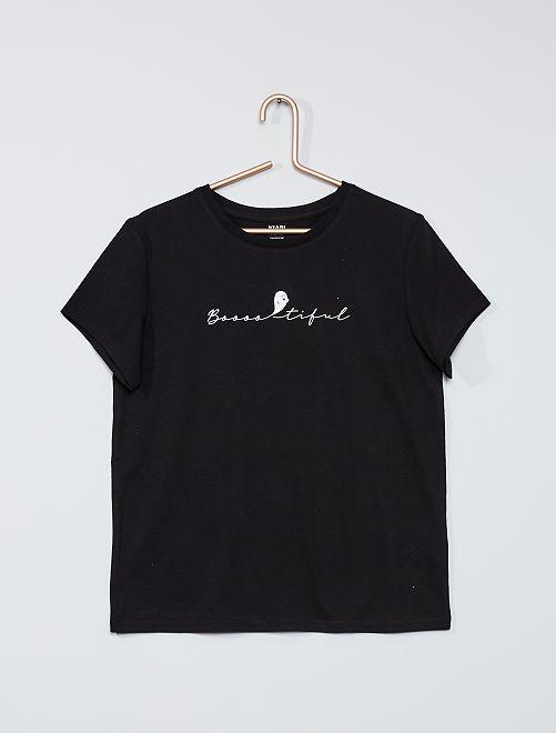T-shirt 'Halloween'                                         noir