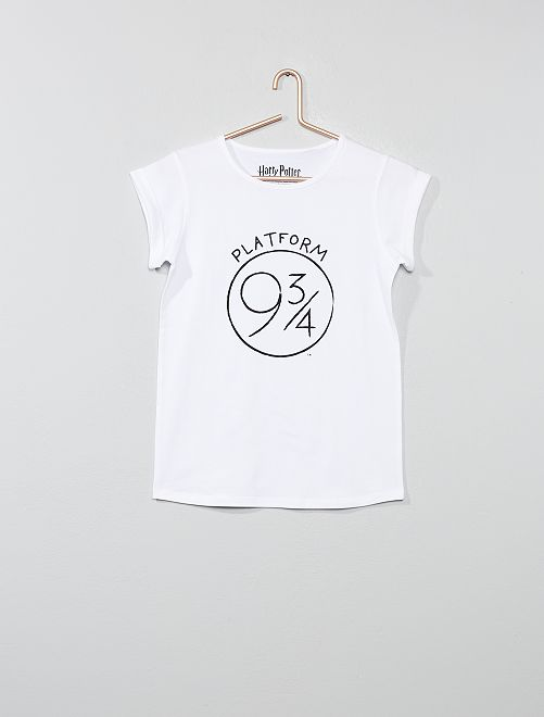 T-shirt 'Harry Potter'                             blanc Fille adolescente