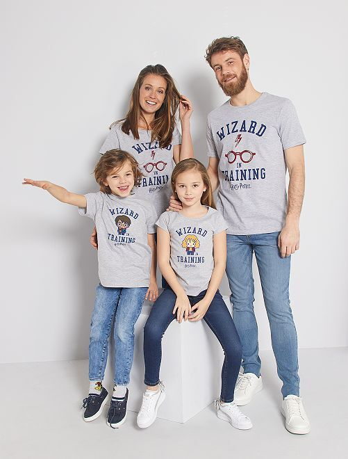 T-shirt 'Harry Potter'                             gris chiné