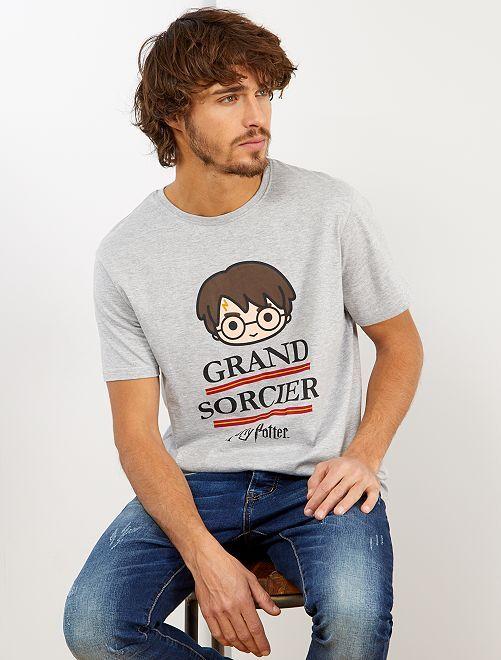 T-shirt 'Harry Potter'                             gris clair chiné