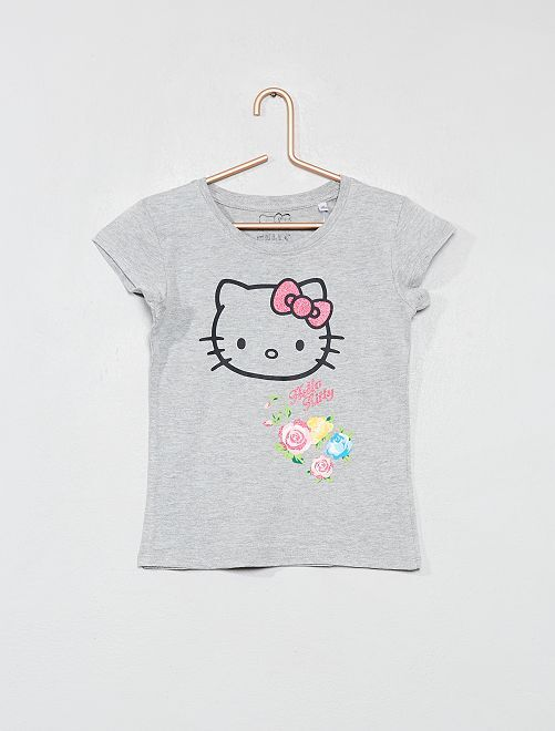 T-shirt 'Hello Kitty'                                                     gris Fille