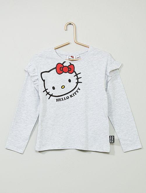 T-shirt 'Hello Kitty'                             gris