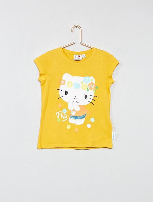 T-shirt 'Hello Kitty'                             jaune