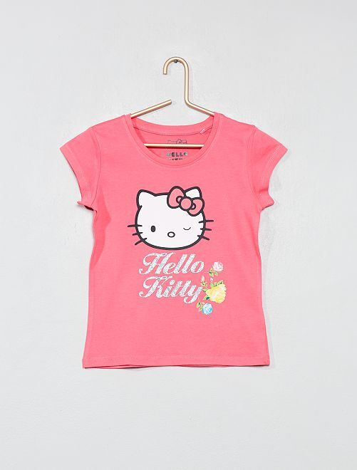 T-shirt 'Hello Kitty'                                         rose Fille