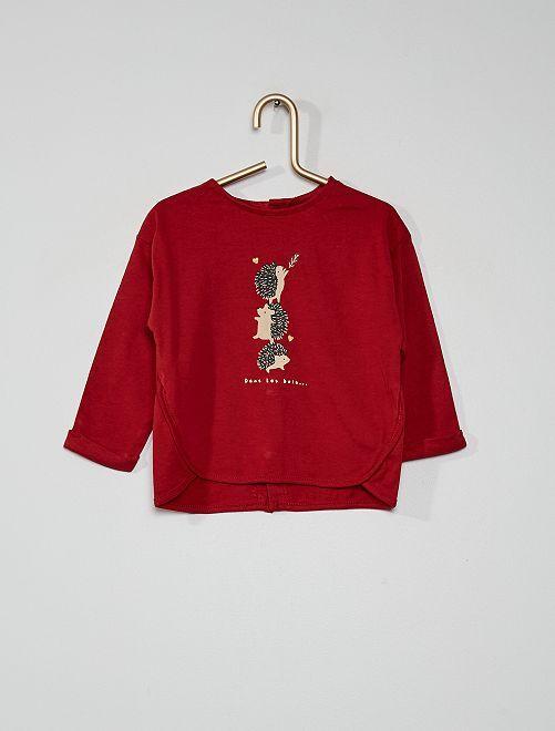 T-shirt 'hérisson'                                         rouge