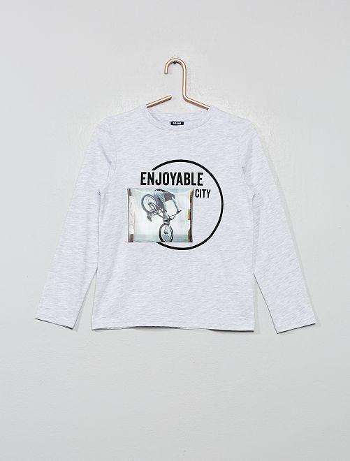 T-shirt hologramme                                                     gris