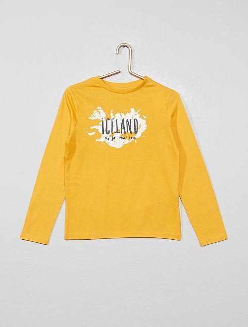 T-shirt 'Iceland' 'éco-conception'                                                                                                                             jaune
