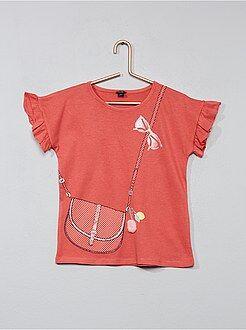 T-shirt impression trompe l'oeil - Kiabi