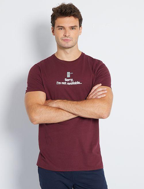 T-shirt imprimé +1m90                                                     bordeaux