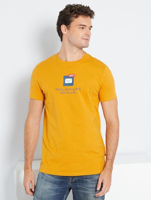 T-shirt imprimé +1m90                                                     jaune