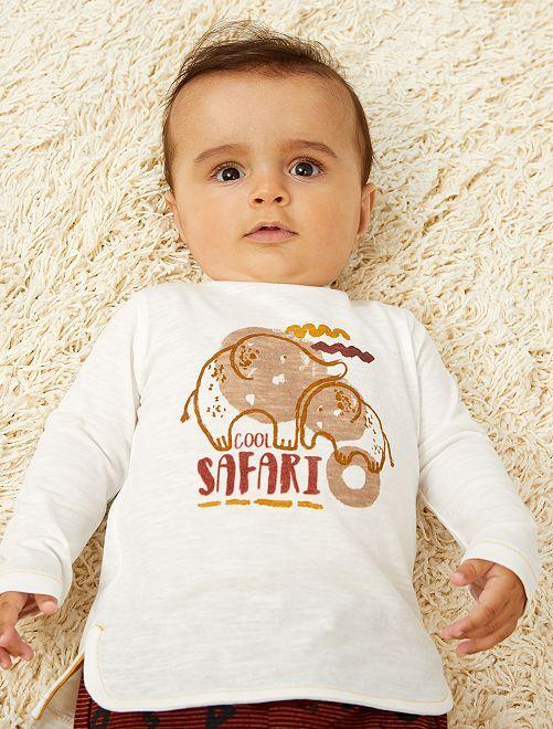T-shirt imprimé à manches longues                                                     jaune Bébé garçon