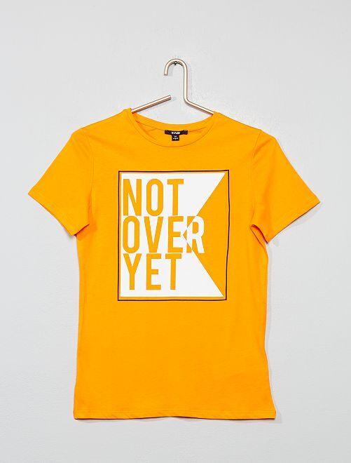 T-shirt imprimé à message                                 orange