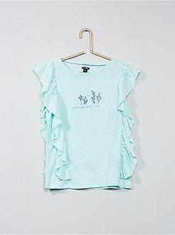 T-shirt imprimé à volants - Kiabi