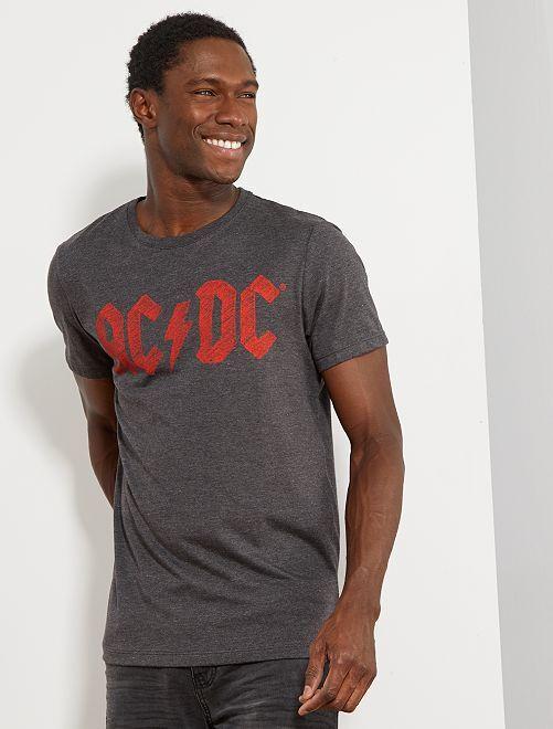 T-shirt imprimé 'AC/DC'                             gris