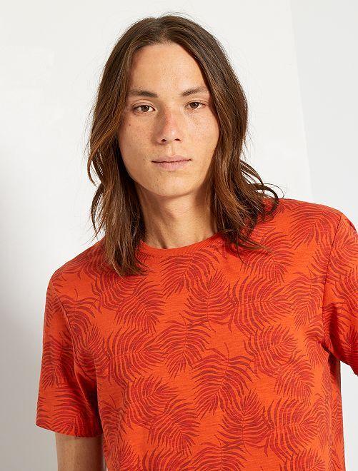 T-shirt imprimé all over                                                     orange