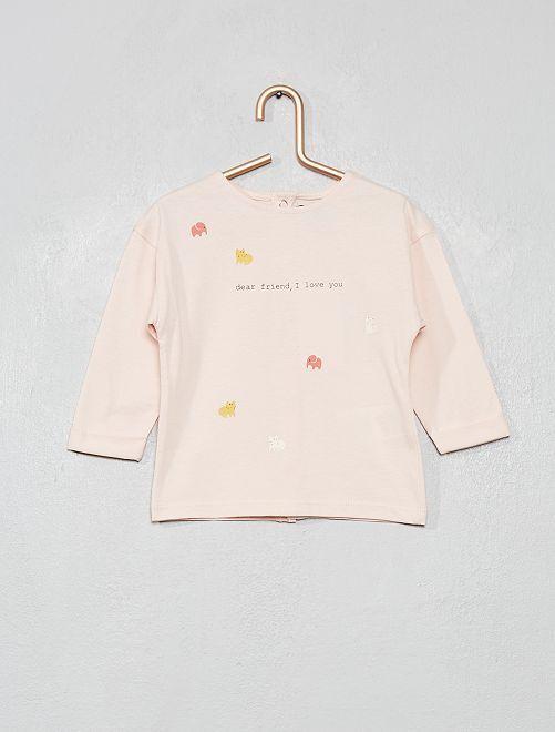 T-shirt imprimé 'animaux'                     rose