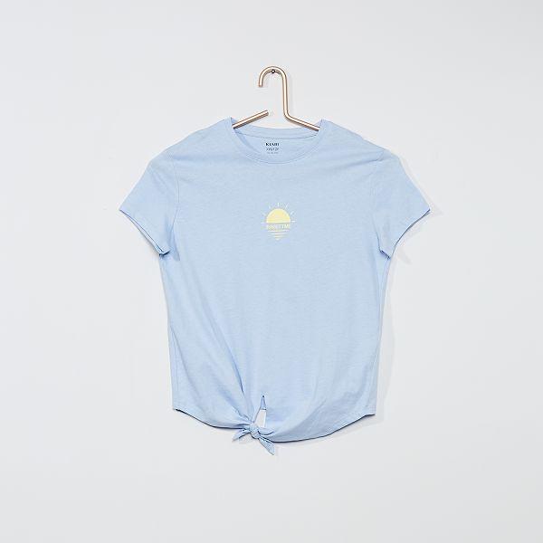 T shirt imprimé avec nœud
