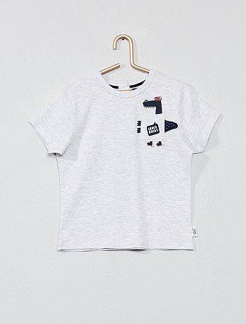 T-shirt imprimé avec poche animée