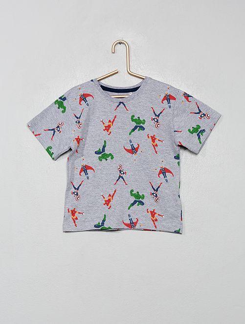 T-shirt imprimé 'Avengers'                             gris chiné