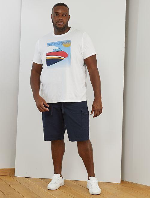 T-shirt imprimé avion                                         blanc