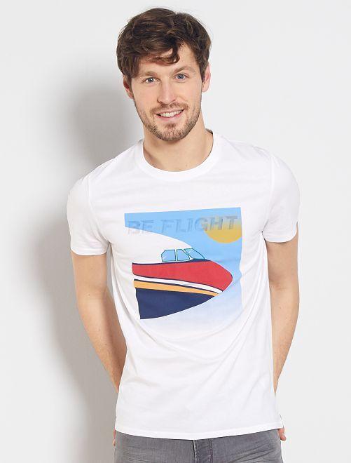 T-shirt imprimé 'avion'                                         blanc