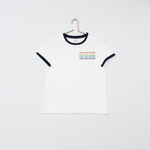 T shirt imprimé 'awesome'