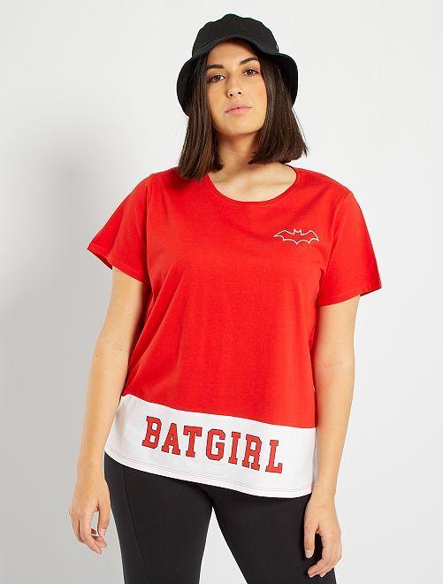 T-shirt imprimé 'Batgirl'                             rouge
