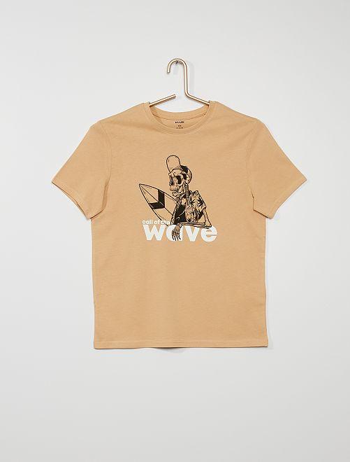 T-shirt imprimé                                                                                                                                                                                                                                                                                                                                         beige