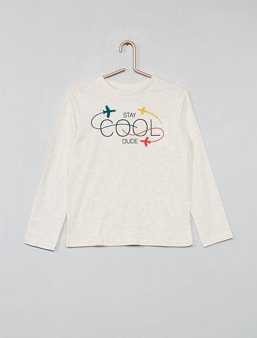 T-shirt imprimé                                                                                                     BEIGE Garçon
