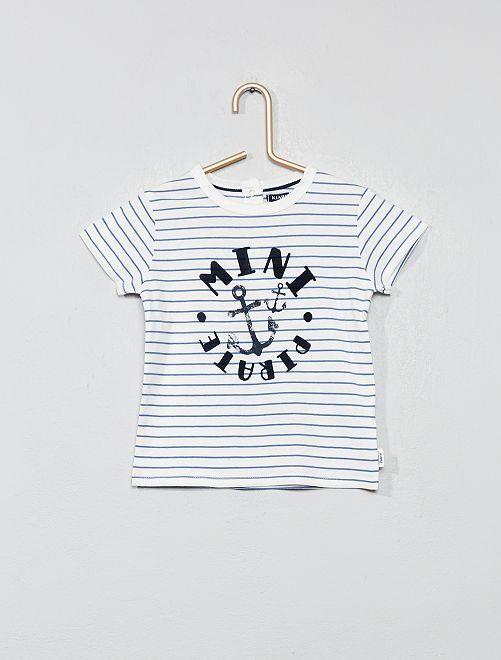 T-shirt imprimé                                                                             blanc ancre Bébé garçon